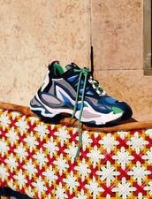 Astro Sneaker Mit Grafischer Sohle : Sommer Kollektion farbe Bleu azur