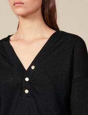T-Shirt Aus Leinen Mit Langen Ärmeln : FBlackFriday-FR-FSelection-30 farbe Schwarz