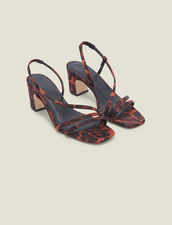 Stoffsandalen mit Leoparden-Print : FBlackFriday-FR-Selection-Chaussures farbe Leopard orange