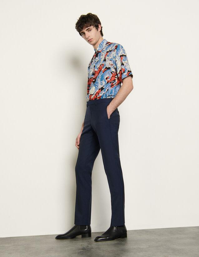 Anzughose aus leichtem Wolltuch : Anzüge & Smokings farbe Blau
