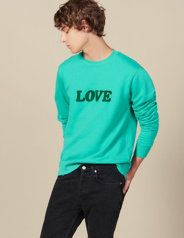 Sweatshirt Mit Schriftzug : Winterkollektion farbe Wassergrün