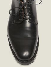 Derby-Schuhe aus Leder : Winterkollektion farbe Schwarz