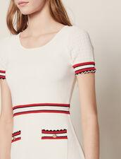 Kleid Aus Strick : null farbe Ecru