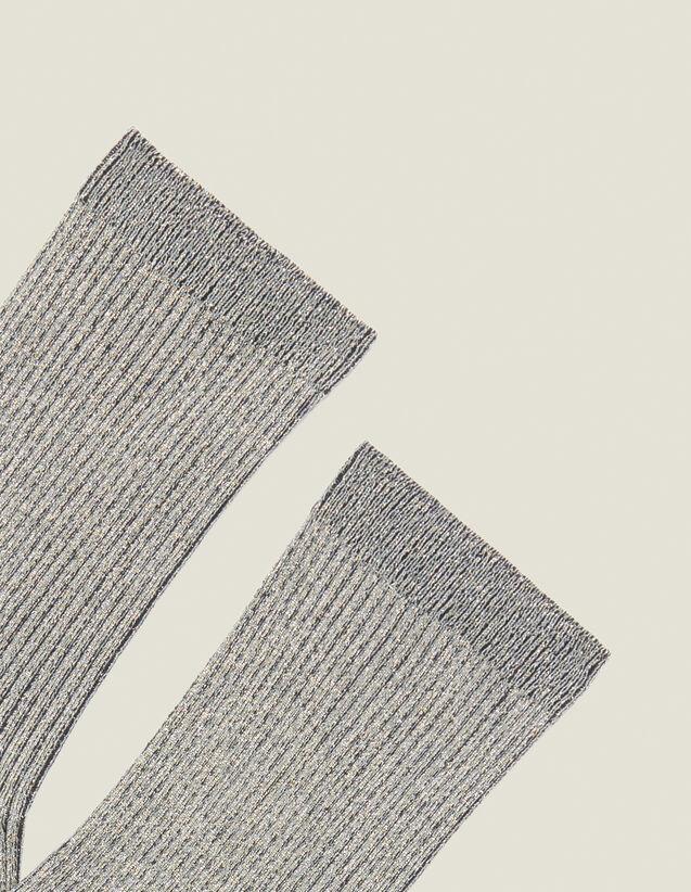 Lurex-Strümpfe : Die ganze Winterkollektion farbe Silber