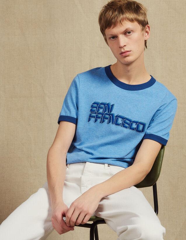 T-Shirt Mit Schriftzug : LastChance-CH-HSelection-Pap&Access farbe Sky Blue