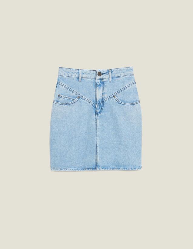 Kurzer Jeansrock Mit Ziernähten : Röcke & Shorts farbe Blue Vintage - Denim