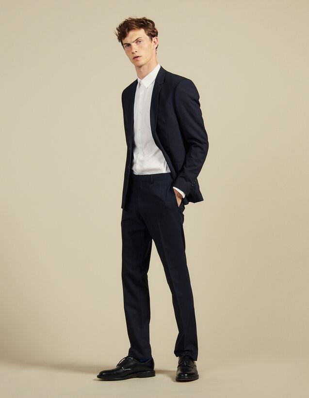 Slim-Fit-Anzughose Aus Wolle : Anzüge & Smokings farbe Marine