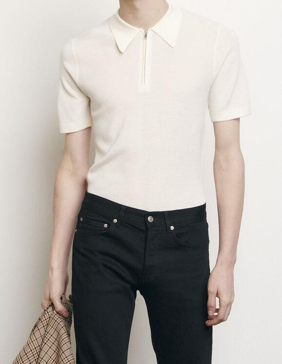 Poloshirt aus Strick : T-Shirts & Polos farbe Ecru