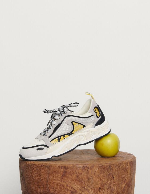 Flame Sneaker : Schuhe farbe python jaune