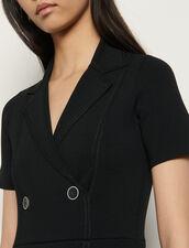 Strickkleid im Anzugstil : Kleider farbe Schwarz