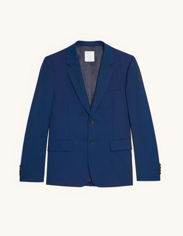 Anzugsakko aus Wolle und Mohair : Anzüge & Smokings farbe Blau