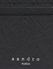 Kartenetui aus Leder : Kartenhalter & Brieftaschen farbe Schwarz
