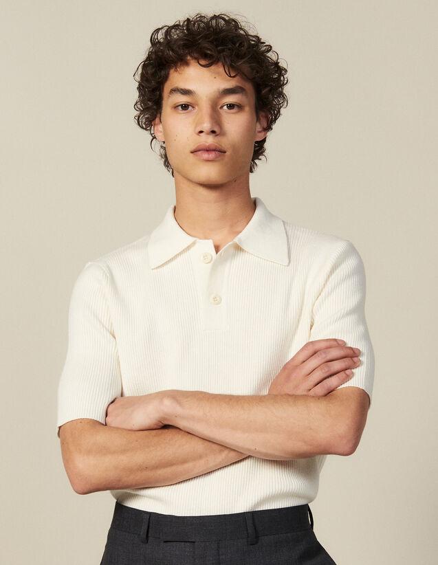 Pullover Mit Polokragen Aus Feinstrick : T-Shirts & Polos farbe Ecru