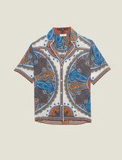 Hemdbluse Im Pyjamastil Mit Print : Tops & Hemden farbe Bunt