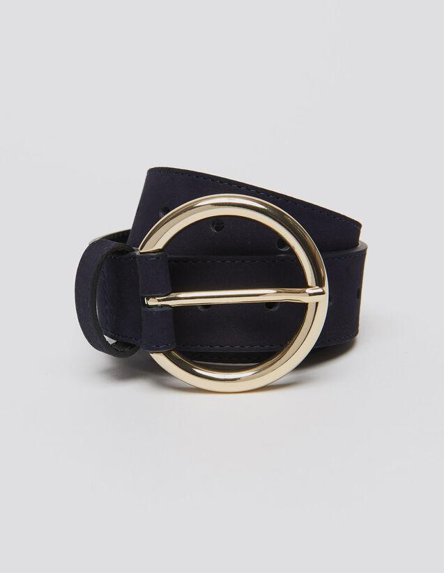 Gürtel aus Leder : Gürtel farbe Dunkel-Marine