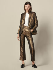 Kostümjacke aus Brokat : FBlackFriday-FR-FSelection-30 farbe Gold