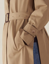 Mantel Im Trenchcoat-Stil Mit Gürtel : null farbe Beige