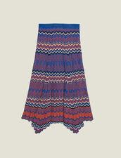 Langer Strickrock Mit Zickzack-Muster : Röcke & Shorts farbe Terrakotta