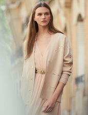 Cardi-Coat mit Nietenverzierung : Pullover & Cardigans farbe Hautfarbe