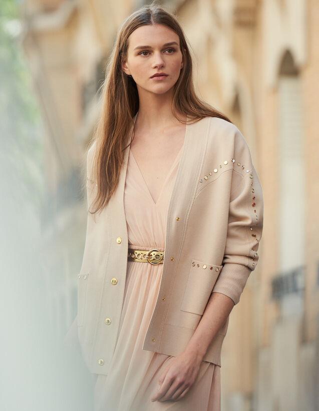 Cardi-Coat mit Nietenverzierung : LastChance-ES-F40 farbe Hautfarbe
