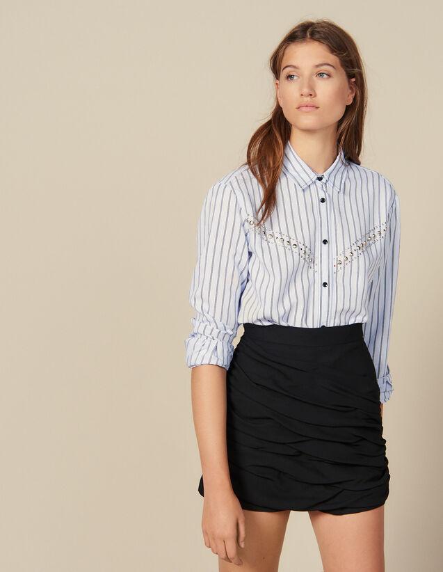 Shorts Mit Drapierungen : Röcke & Shorts farbe Schwarz