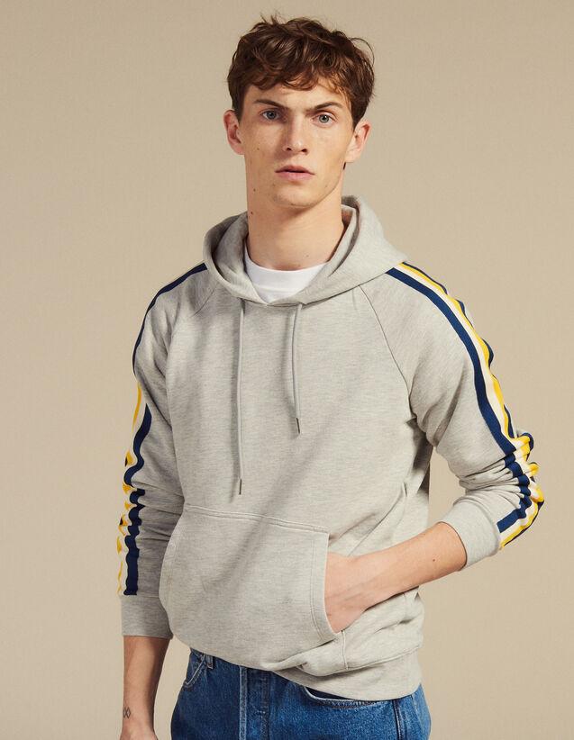 Kapuzen-Sweatshirt Aus Molton : Sweatshirts farbe Grau Meliert