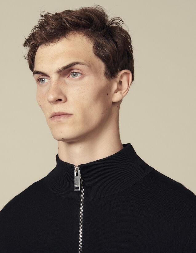 Wollcardigan Mit Reißverschluss : Pullovers & Cardigans farbe Schwarz