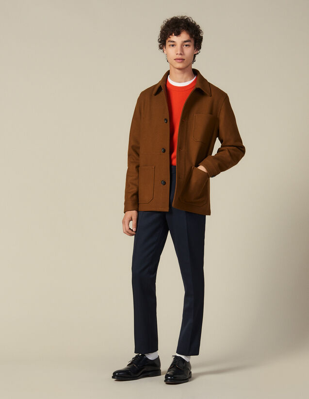 Jacke Aus Wolltuch : Blousons & Jacken farbe Camel