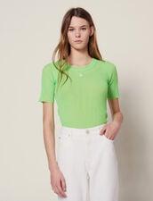 Fluo-T-Shirt Aus Strick : LastChance-CH-FSelection-Pap&Access farbe Vert fluo
