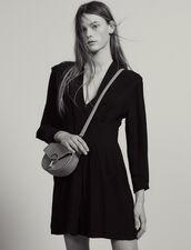 Kurzes Fließendes Kleid Mit Falten : null farbe Schwarz