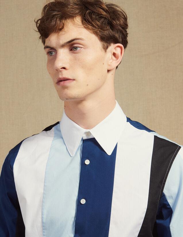 Mehrfarbig Gestreiftes Hemd : Hemden farbe Blau