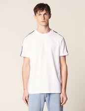 T-Shirt Mit Streifenborten : T-Shirts & Polos farbe Weiß