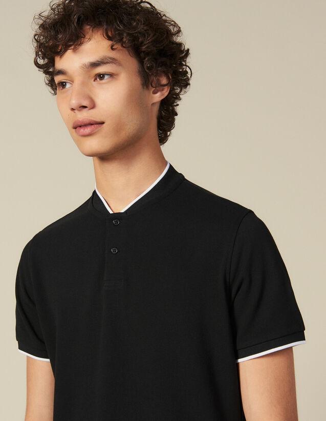 Poloshirt mit kontrastierendem Kragen : Die ganze Winterkollektion farbe Marine