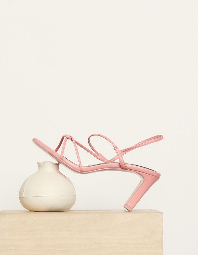 Sandalen mit schmalen Riemchen : Schuhe farbe Malabar