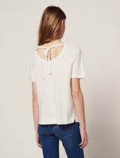T-Shirt Mit Plissiertem Plastron : LastChance-FR-FSelection farbe Weiß