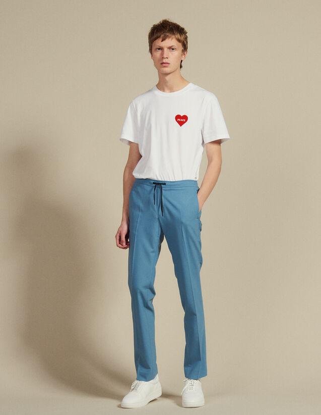 Cityhose Mit Zugband : Hosen & Shorts farbe Stahlblau