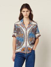 Hemdbluse Im Pyjamastil Mit Print : null farbe Bunt