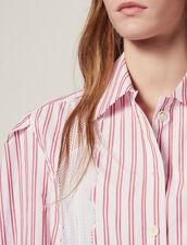 Gestreifte Hemdbluse Mit Spitzendetail : Bedrucktes Hemd farbe Rot