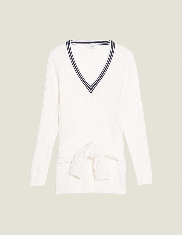 Pullover Aus Zopfmusterstrick : LastChance-CH-FSelection-Pap&Access farbe Ecru
