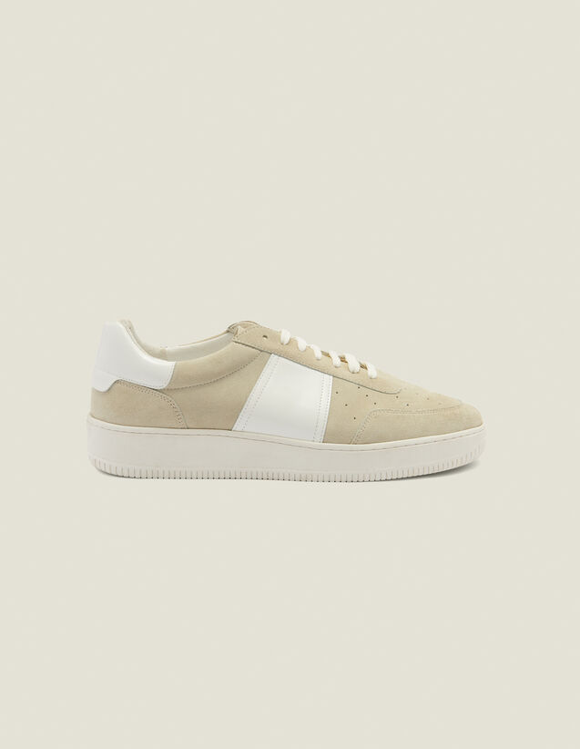 Sneaker aus Leder : Schuhe farbe Ecru