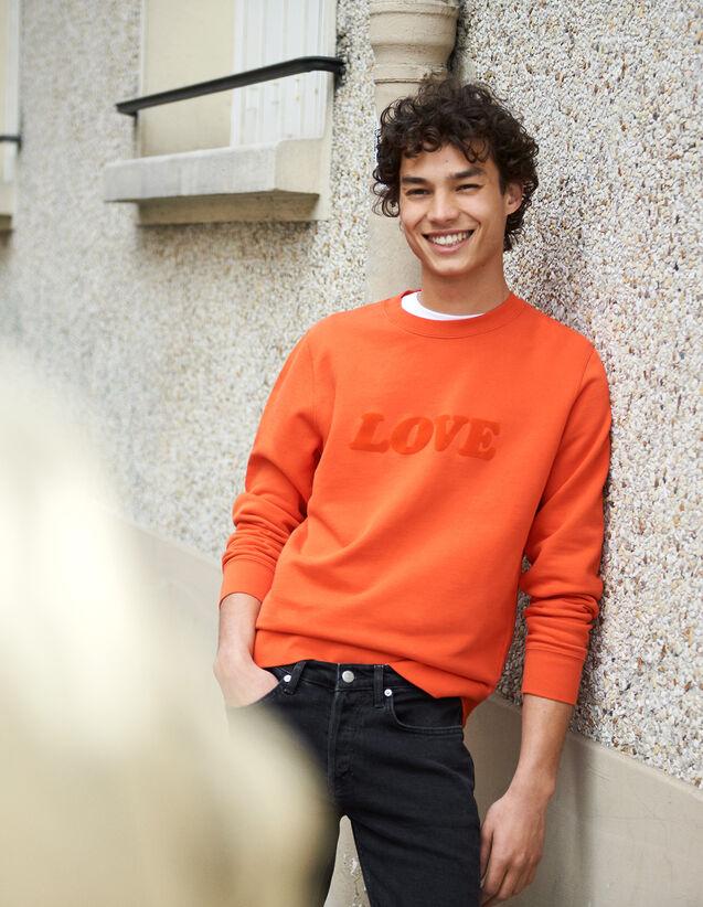 Sweatshirt Mit Schriftzug : Neue Kollektion farbe Orange