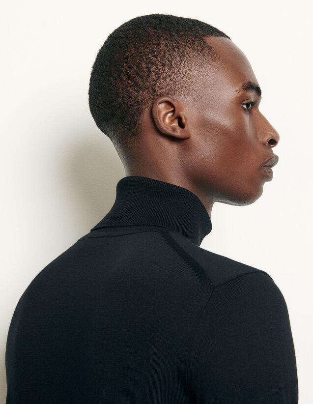 Rollkragenpullover aus Wolle : Pullovers & Cardigans farbe Schwarz