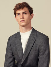 Meliertes Anzugsakko Aus Wolle : Anzüge & Smokings farbe Grau Meliert