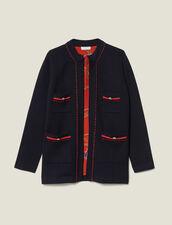 Gerade geschnittener Cardi-Coat : LastChance-ES-F40 farbe Marine