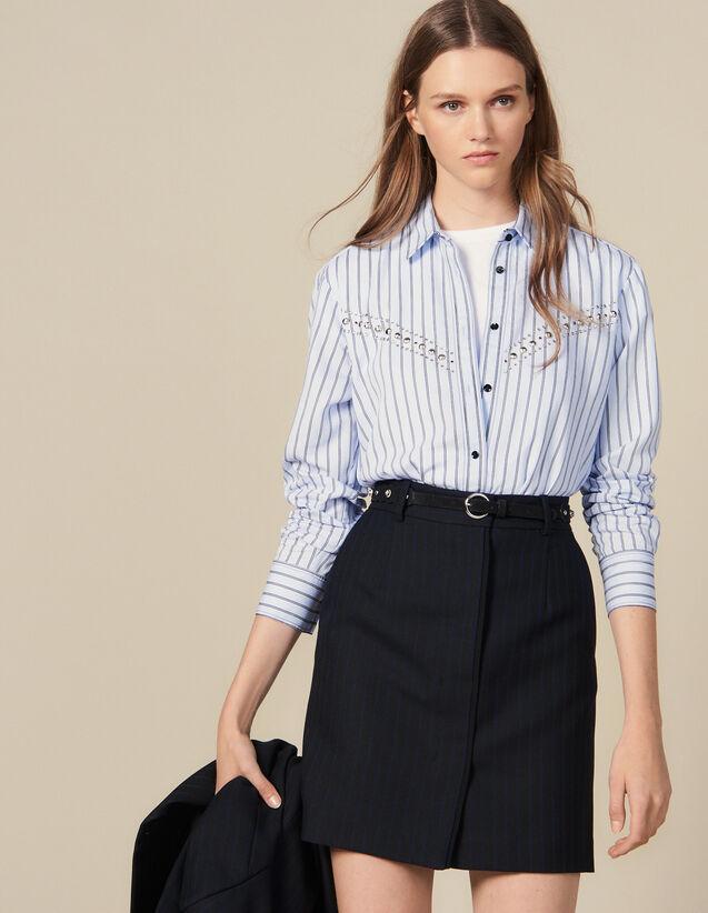 Kurzer Kostümrock Mit Schmalen Streifen : Röcke & Shorts farbe Schwarz