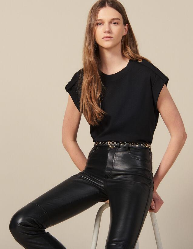 Weites T-Shirt Mit Riegeln : New In farbe Schwarz