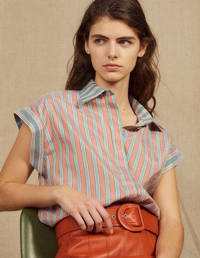 Ärmellose Hemdbluse Mit Streifen : Bedrucktes Hemd farbe Grün