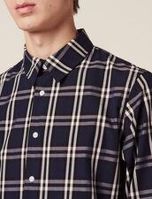 Langarm-Hemd Mit Tartanmuster : Hemden farbe Marine