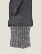Handschuhe Aus Gestepptem Leder : Handschuhe & Mütze farbe Schwarz