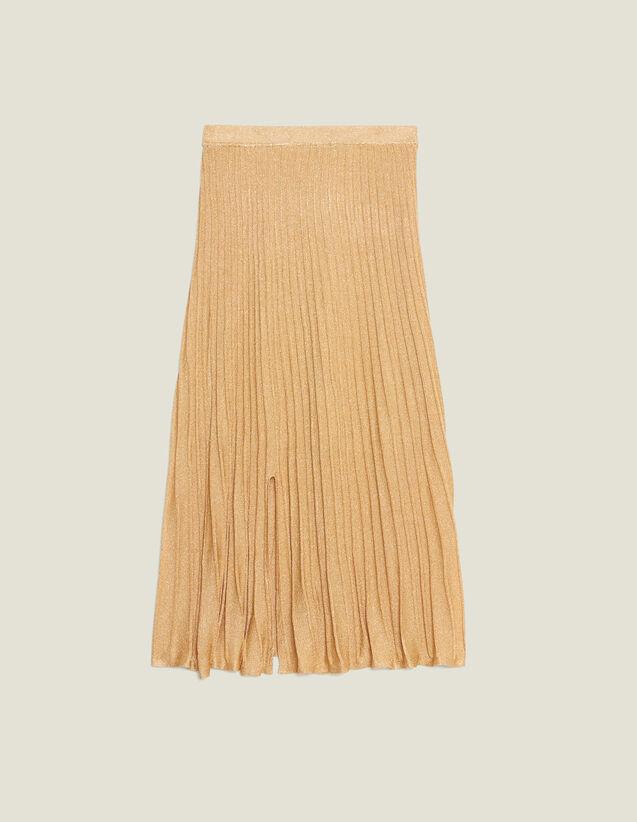 Langer Plissierter Strickrock : Röcke & Shorts farbe Gold